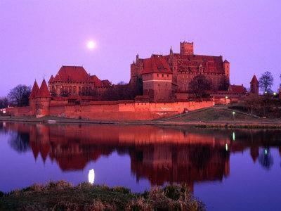 Teutonic Castle of Malbork at Sunset, Malbork, Poland