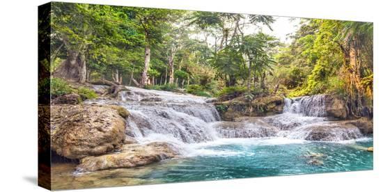 Kuang Si Falls, Luang Prabang, Laos-Pangea Images-Stretched Canvas