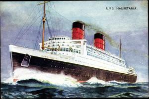 Künstler Church, W., Cunard Line, R.M.S. Mauretania