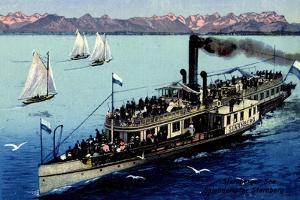 Künstler Dampfer Starnberg Auf Dem Starnberger See