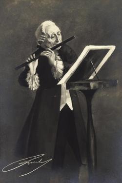 Künstler Friedrich Ii Der Große Von Preußen, Flöte