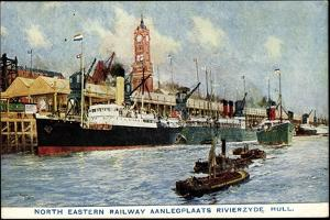 Künstler Kingston Hull, North Eastern Railway Dock