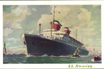 Künstler United States Lines, Dampfschiff S.S America