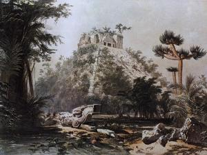 Kukulcan Pyramid in Chichen Itza by F Catherwood from Incidents of Travel in Central America