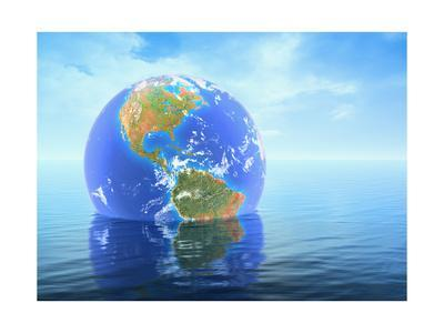 Earth Floating in Water
