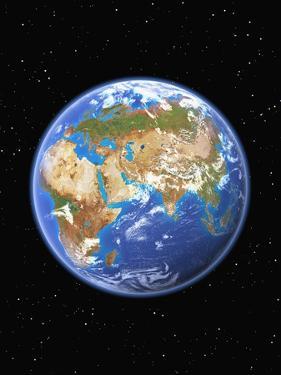Eastern Hemisphere of Earth by Kulka