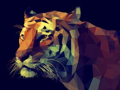 Low Poly Design. Tiger Illustration. by Kundra