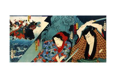 Actors Nakamura Shikan and Sawamura Tanosuke