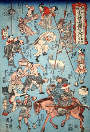 100 Worrar of Suikoden by Kuniyoshi Utagawa