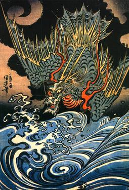 Dragon by Kuniyoshi Utagawa