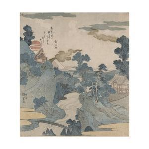 Fuji No Yukei (An Evening View of Fuji) by Kuniyoshi Utagawa
