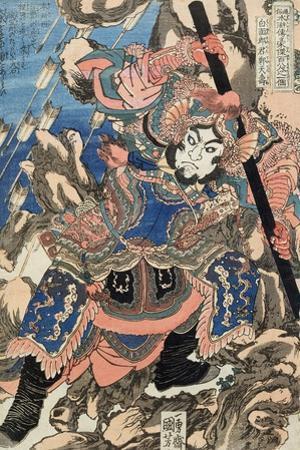 Hakumen Rokun Teitenju by Kuniyoshi Utagawa