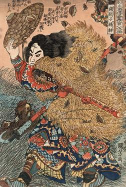 Kinhyoshi Yorin, Hero of the Suikoden by Kuniyoshi Utagawa