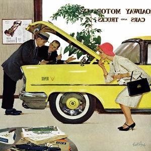 """Checking it Out"", November 15, 1958 by Kurt Ard"