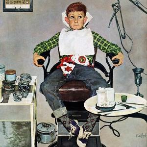 """In the Dentist's Chair"", October 19, 1957 by Kurt Ard"