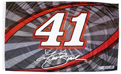 Kurt Busch One-Sided Flag with Number