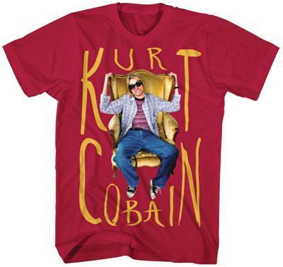 Kurt Cobain- Sitting Chair Photo