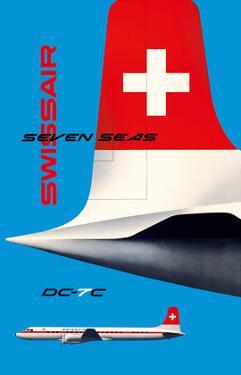 SwissAir - Seven Seas Airliner - Douglas DC-7C by Kurt Wirth