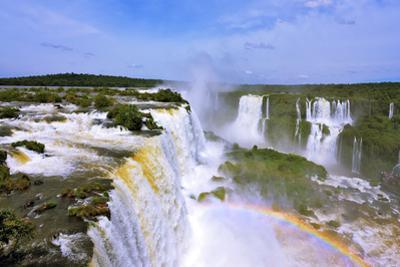 The Roaring Waterfalls in South America - Iguazu by Kushnirov Avraham