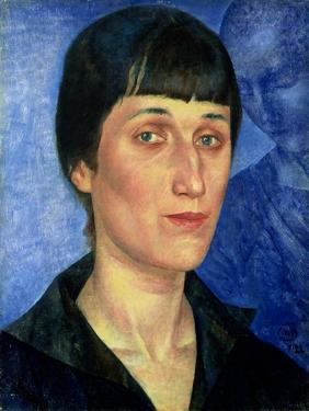 Portrait of Anna Akhmatova (1889-1966) 1922 by Kuzma Sergeevich Petrov-Vodkin