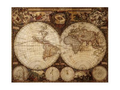 Vintage Map by Kuzma