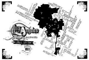Los Angeles Pop Culture Map by Kyle & Courtney Harmon