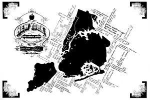 New York Pop Culture Map by Kyle & Courtney Harmon