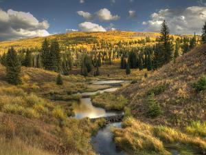 Mcclure Pass at Sunset During the Peak of Fall Colors in Colorado by Kyle Hammons