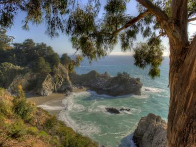 Mcway Falls at Julia Pfeiffer Burns State Park on the Big Sur Coast of California by Kyle Hammons