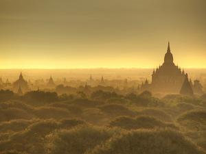 The Sun Rises across the 2000+ Temples and Pagodas at Bagan in the Country of Burma (Myanmar) by Kyle Hammons