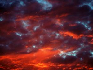 Clouds in Red Sky, Truckee, CA by Kyle Krause