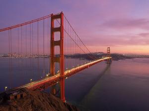 Golden Gate Bridge at Sunset, CA by Kyle Krause