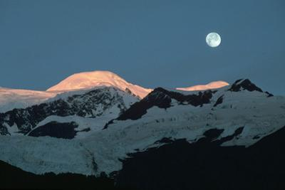 Moon over Glacier, Ak by Kyle Krause
