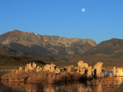 Moon Over Sierra Mountain Range, CA by Kyle Krause