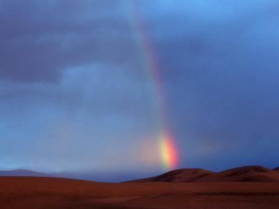 Rainbow Over Sand Dunes, Death Valley, CA by Kyle Krause