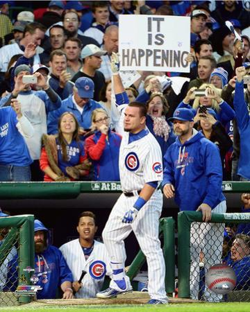 Kyle Schwarber celebrates his Home Run Game 4 of the 2015 National League Division Series