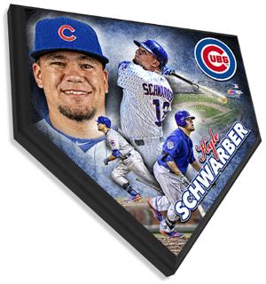 Kyle Schwarber Home Plate Plaque