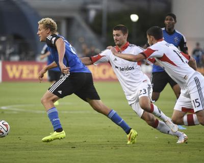 Jul 11, 2014 - MLS: D.C. United vs San Jose Earthquakes - Steven Lenhart, Perry Kitchen