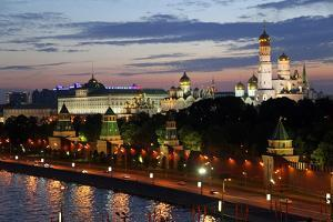 Dusk at the Kremlin, Moscow, Russia by Kymri Wilt