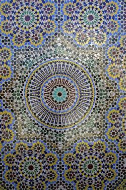 Mosaic Wall for Fountain, Fes, Morocco, Africa by Kymri Wilt