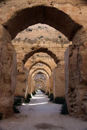 Royal Granaries of Moulay Ismail, Meknes, Morocco, Africa