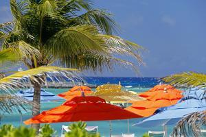 Umbrellas and Shade at Castaway Cay, Bahamas, Caribbean by Kymri Wilt