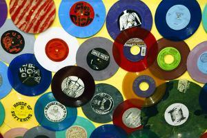 USA, California, Los Angeles. Vinyl 45's at Amoeba Music Store. by Kymri Wilt
