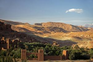 View from Ait Ben Haddou, UNESCO World Heritage Site, Ourzazate, Morocco, Africa by Kymri Wilt