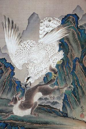 A Wolf Attacked by White Eagle