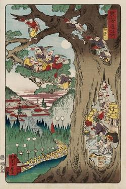 Mount Akiba from the Series Scenes of Famous Places Along the Tokaido Road by Kyosai Kawanabe