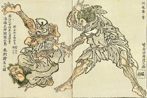Sumo Wrestling by Kyosai Kawanabe