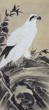 White Eagle and Monkey by Kyosai Kawanabe