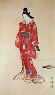 Lady In Red by Kyosai