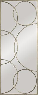 Kyrie Enclosed Circles Antique Silver Mirror